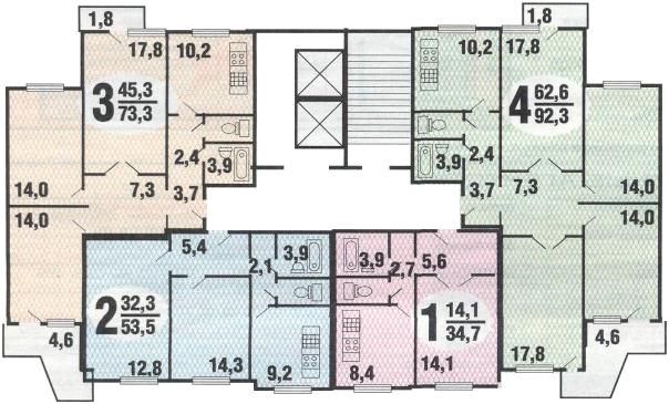 Универсальный дизайн интерьера 4-х комнатной квартиры в